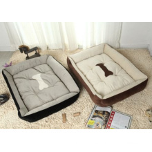 Bone estilo impreso suave cama de mascotas caliente