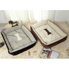 Bone estilo impresso suave cama de estimação quente