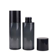 Semi-transparent gray black colored cylinder pet plastic bottles 100ml plastic bottle