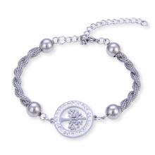 Arbre de la chaîne Bracelet en acier inoxydable Bracelet femme