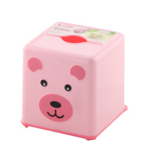 Red Square Plastic Cute Tissue Box (FF-5021-1)