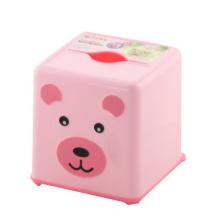 Boîte en tissu mousse en plastique de carré rouge (FF-5021-1)