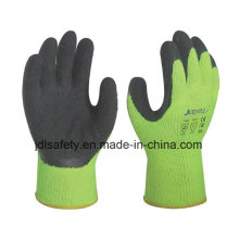 Latex Work Glove with High Visibility (LY2026) (CE APPROVED) -Blue