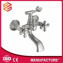 Полированный керамический картридж смеситель горячей и холодной воды душ двойной ручкой настенный смеситель для душа