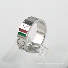 Luxury G Ring Stainless Steel G Brand Red Green Titanium Ring