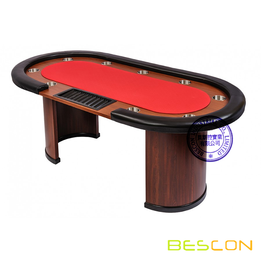 9 Person Casino Poker Table with Dealer Position