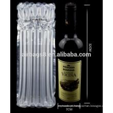 Mais barato vermelho vinho ar coluna coxim embalagem saco para embalagem de garrafa de vinho vermelho