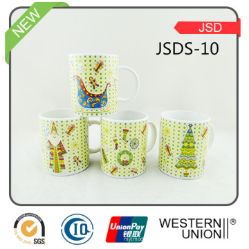 Copo cerâmico da caneca de café da porcelana para o presente da promoção (JSDS-10)