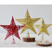 Enfeites de Natal pequena estrela e decorações de suspensão