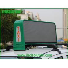 Exposição de diodo emissor de luz da parte superior do táxi da cor completa P5 com caras dobro