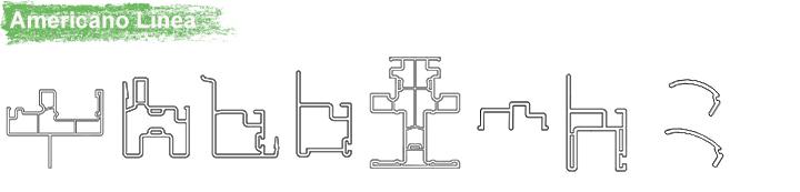 pvc americano linea thermopanel ventansa de pvc profileS