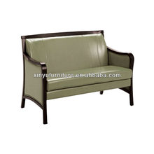 Shinny leather soild wood frame sofa XY3379