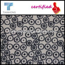 black white woven technic high quality poplin cotton printed thin light weight fabric for garment dress