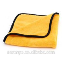 Toalla de microfibra personalizada barato paño de limpieza Amarillo Ht-078 fabricante de China