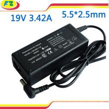 Para ASUS adaptador para portátil 19v 3.42a 65w 5.5 * 2.5mm cargador de corriente