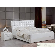 Hotel Bed, Leather Modern Bed, Bedroom Furniture (L1166)