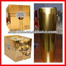Película de cartón de PET de oro