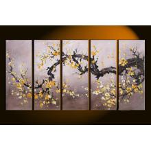 Barato mais recente arte moderna flor pintura a óleo