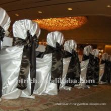 couverture de chaise de satin pour les mariages