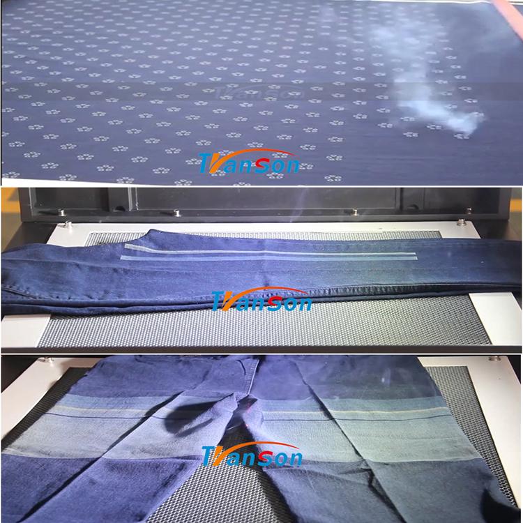 jeans denim laser marking machine