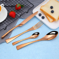 Sterling Silver Flatware Gold Plated Restaurant Cutlery Set