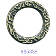 Zinc Alloy Circle for Garment-Ab5338