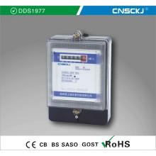 Medidor de energía electrónico de alta calidad monofásico Dds1977