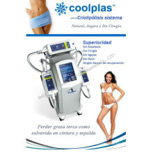 3 Cryo Handle Cryotherapy Cool Tech Liposucción Fat Freezing Machine