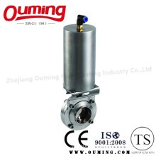 Sanitary Pneumatic Butterfly Valve with Welding End