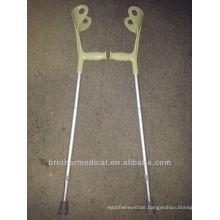 Adjustable aluminum crutch