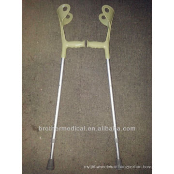 Adjustable aluminum crutch