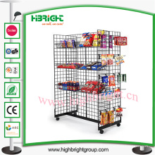Estante de exhibición del alambre de acero del supermercado