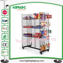 Prateleira de exposição de fio de aço de supermercado