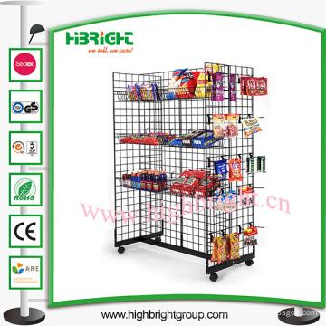 Présentoir de fil d'acier de supermarché