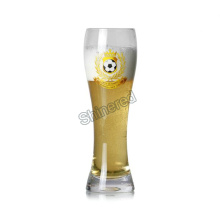 Customized Hand Made Man Blowing Beer Glass Bottle for Wholesaler
