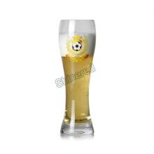 Botella de vidrio hecho a mano de la cerveza de la mano del hombre hecho a mano para el comerciante