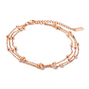 Wholesalae subiu tornozeleiras de corrente de ouro para as mulheres