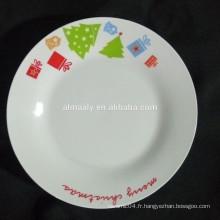 assiette en céramique chinoise, assiette en porcelaine de linyi, assiette en céramique blanche