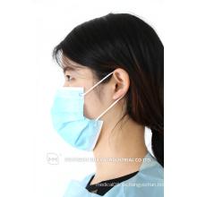 Einweg-Vlies-Gesichtsmaske / 3fach medizinische Einweg-PP-Gesichtsmasken mit Ohrbügel