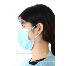 Mascarilla facial no tejida desechable / máscaras desechables médicas PP de 3pcs con oreja