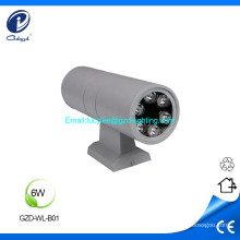 6W up and down aluminum led wall light