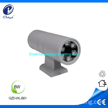 6W estructura impermeable IP65 LED luz de pared