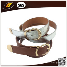 Customized High Quality Cowhide Leather Belt with Gold Buckle