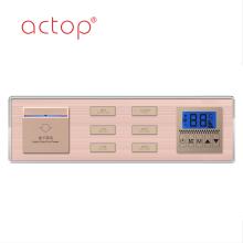 Panel de interruptor de control de iluminación de hotel de venta caliente
