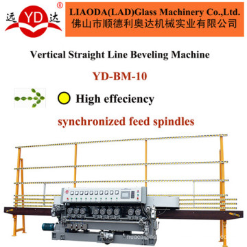 Vertical Straight Line (YD-BM-10) Glass Beveling Edge Ten Wheels Glass Machine