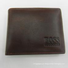 Carteira carta prestígio elegante couro genuíno homens negócios