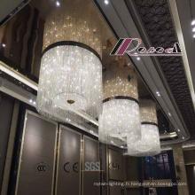 Grand lustre en cristal décoratif particulièrement moderne d'hôtel avec le nouveau style