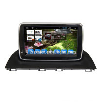 Glonass/GPS Android 4.4 Mirror-link TPMS DVR car central multimedia for Mazda 3 2014 with GPS/BT/TV/3G