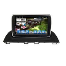 Glonass / GPS Android 4.4 espelho-link TPMS DVR carro dvd player para Mazda 3 2014 com GPS / BT / TV / 3G