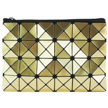 Элегантный волшебные сумки Кубик золота PU для косметики